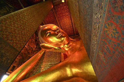 Reclining Buddha statue in Thailand Buddha Temple Wat Pho , Asia